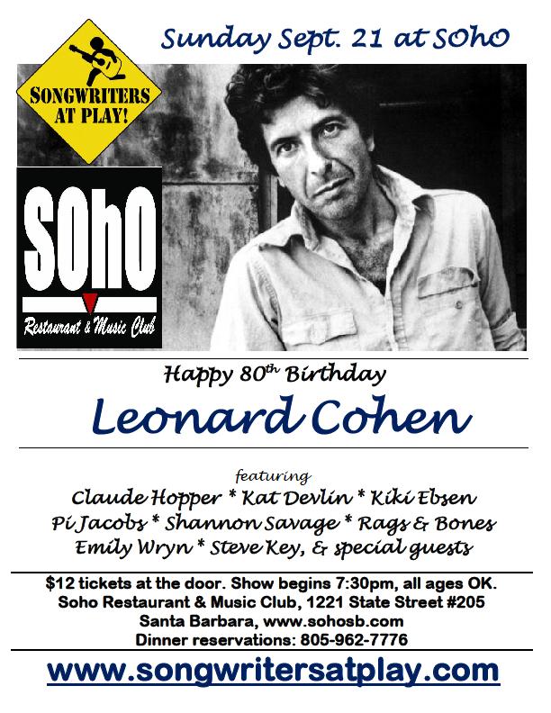 9-21-14 Leonard Cohen tribute flier